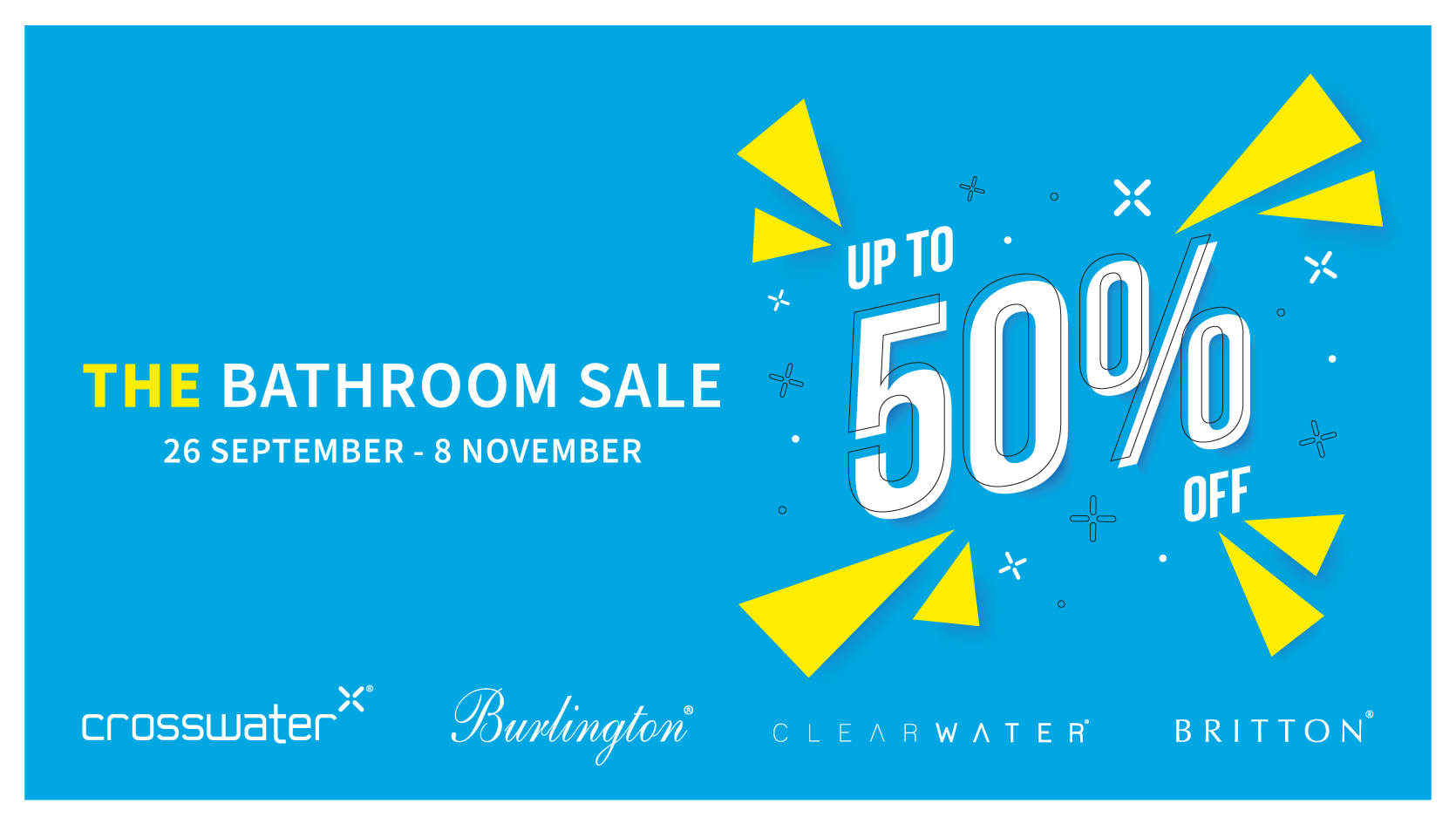 Brown and Co Bathroom Sale – Up to 50% Off All Crosswater Bathrooms